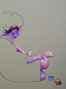"Saatchi Online Artist Cristina Troufa; Painting, """"A paixão tem um fado #2"" (passion have a destiny) SOLD"" #art"