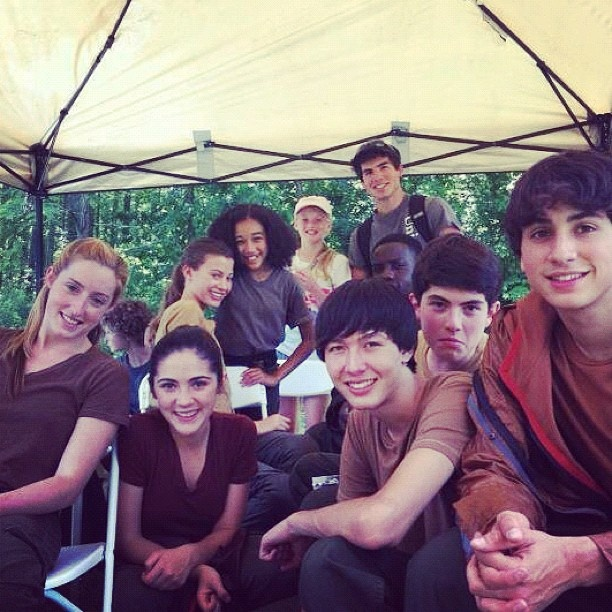 The Hunger Games: Behind The Scenes. THAT IS RICO FROM TWISTED IN THE RIGHT CORNER!!!