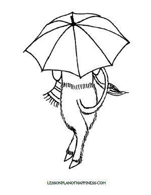 mr tumnus umbrella coloring page - Umbrella Coloring Pages 2