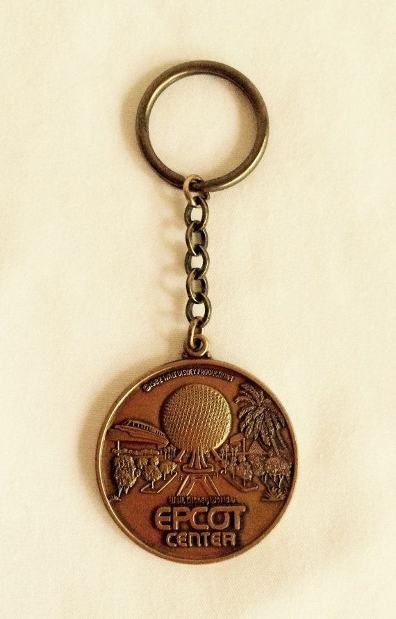 Vintage Disney World Epcot Center Key Chain by Object9 on Etsy