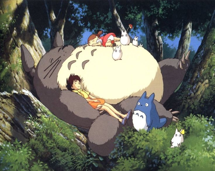 Tonari no Totoro (My Neighbour Totoro): big and fluffy