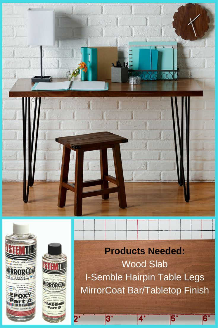 What Better Way To Organize A Small Room Than To Create A Small Desk?  Rockler Sells A Wide Variety Of Slabs And Hairpin Legs To Meet Your Needs. Great Ideas
