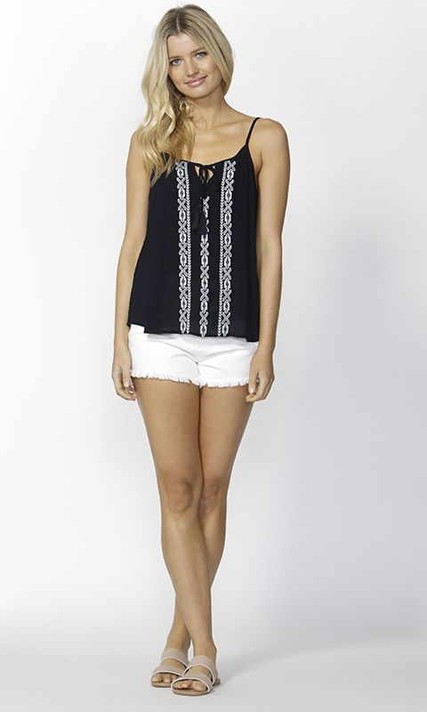 Sass - Ivie Embroidered Front Cami B