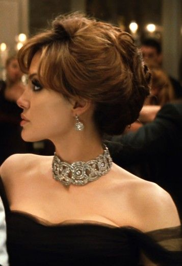 "Rosamaria G Frangini | Luxe Be A Lady | Angelina Jolie wearing Robert Procop necklace in the movie  ""The Tourist"" (2010)"