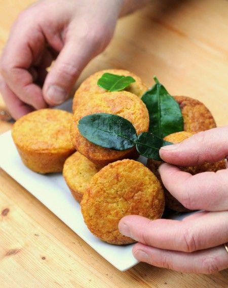 Muffins au manioc et pâte de curry - Recette sans gluten et sans laitMakanai
