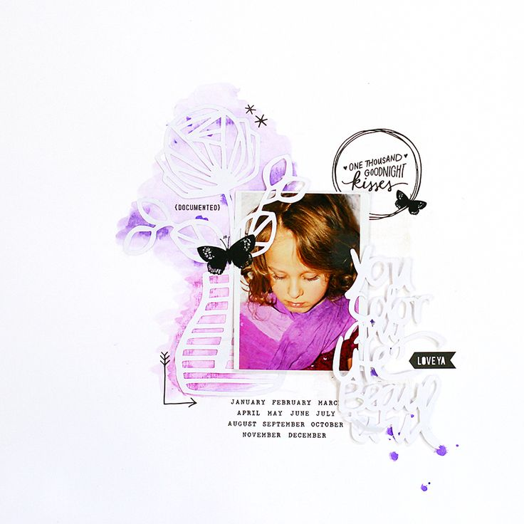 you color | traditonal scrapbook page by todido