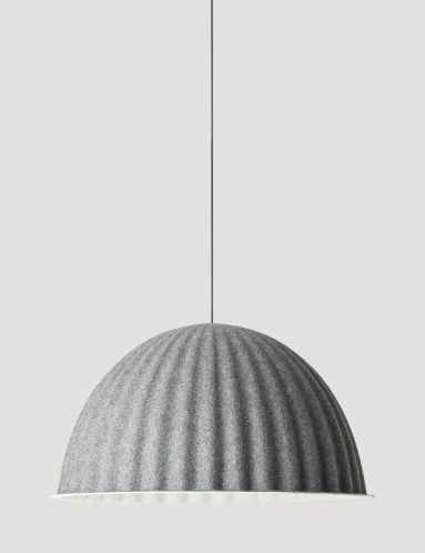 Made from recycled plastic felt, Under The Bell is a large lamp that creates a new space within a space whether hung over the dining room table or on the ceiling. Its eye-catching design can also help to absorb noise and improve the acoustics in large rooms. Designed by Iskos-Berlin, Under The Bell creates a sense of shelter and adds a strong statement to any setting.