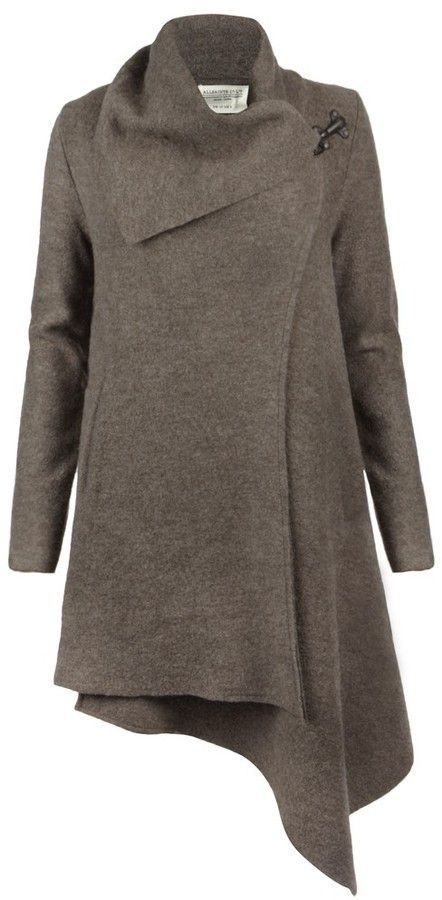 All Saints coat...I've been looking for just the right style coat to make with my teal colored felt. THIS IS IT!