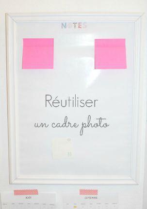 réutiliser un cadre photo