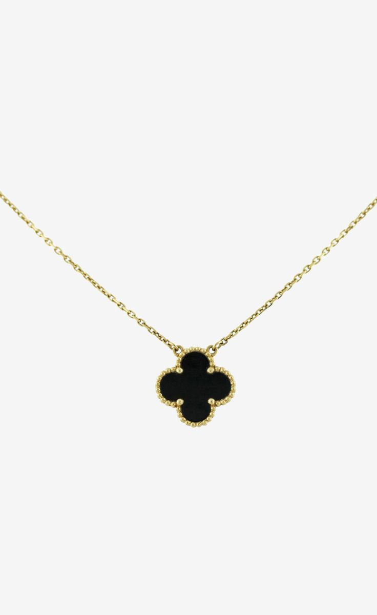 Van Cleef & Arpels Gold / Black Onyx Necklace | VAUNTE