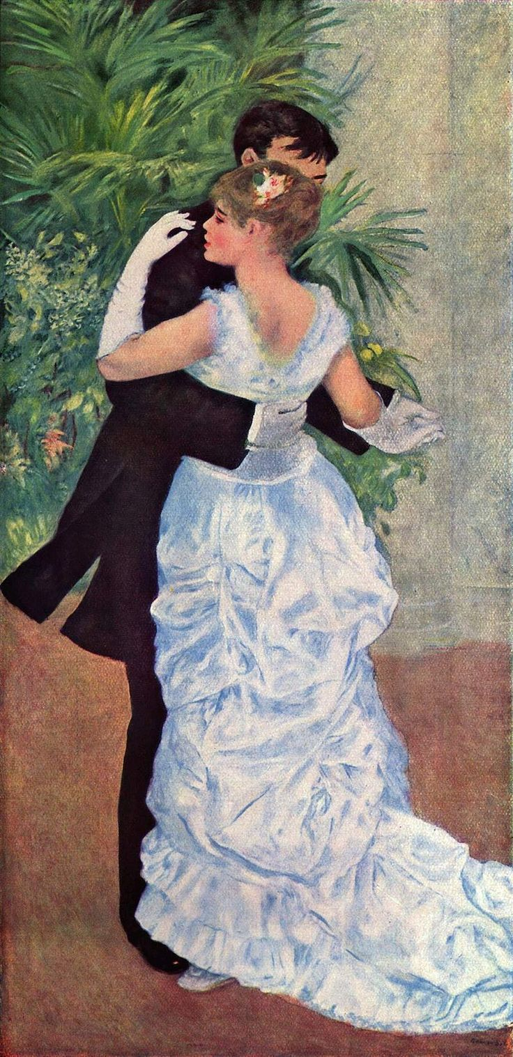 Pierre-Auguste Renoir, Ballo in città, 1883, olio su tela, Musèe d'Orsay