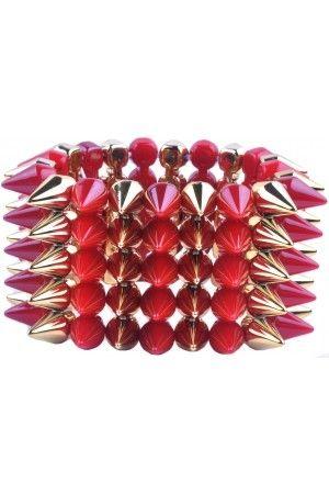 omega deals,spikes armband online kopen,sieraden online kopen,bracelets,stoere armband,verstelbare elastiche armband