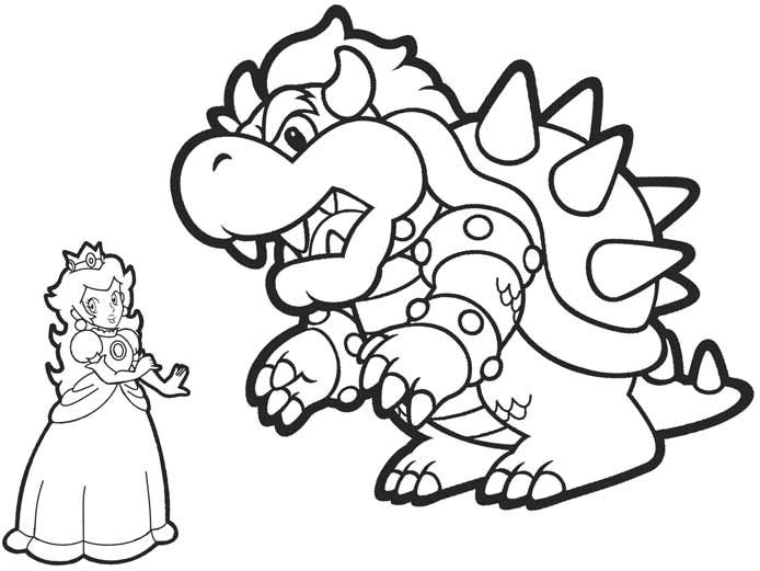 Bowser Coloring Pages Coloring Pages Super Mario Coloring Pages