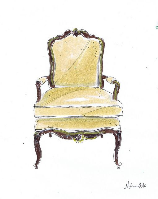 Yellow French Chair, Michelle Morelan