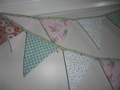 Bunting Beautiful range of gorgeous fabrics - Ballet slippers
