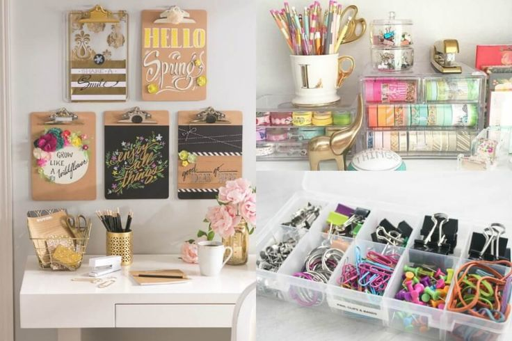 Organize your desk and improve your productivity by using these simple desk organization hacks!