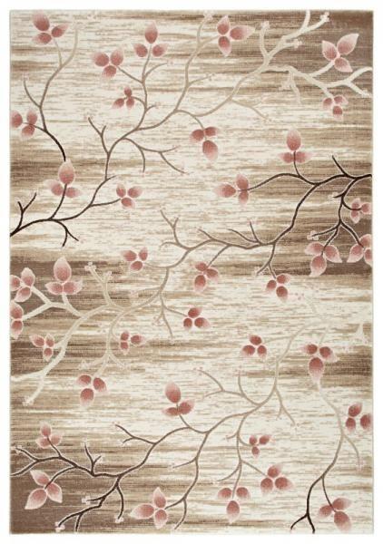 Fesitval Neva 9808A pembe  çiçek desenli halılar
