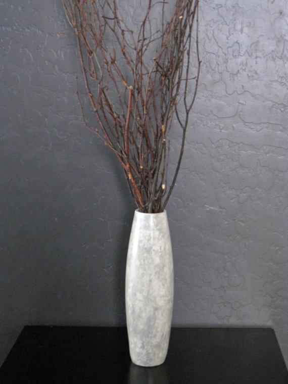 Hand crafted Faux Marble Thin Vase by Noelani's on Etsy, $23.00