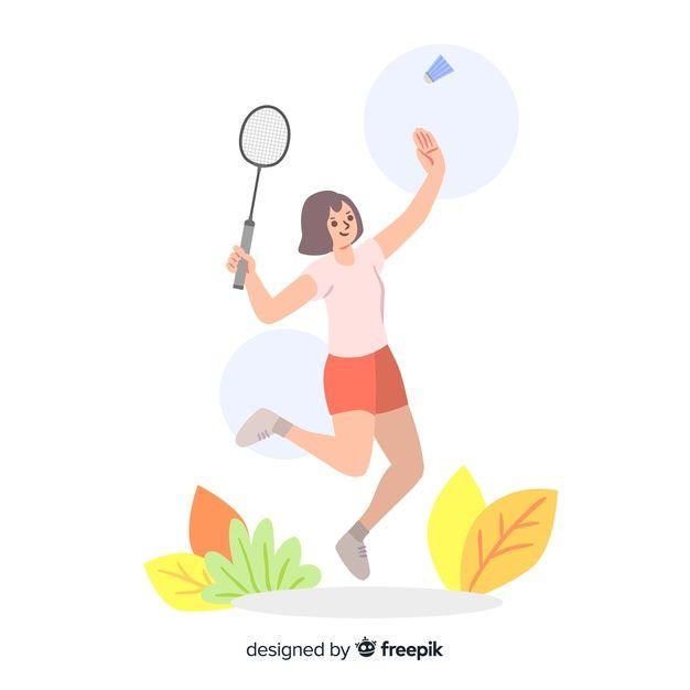 Telechargez Joueur De Badminton Gratuitement Badminton Soccer Backgrounds Vector Free