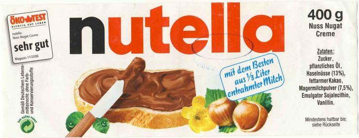 Afbeeldingsresultaat voor nutella label