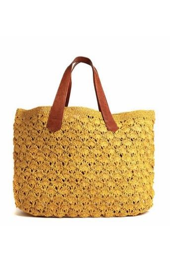 Mar y Sol Valencia Crocheted Beach Tote in SunFlower at Pesca Boutique. - Price: $98.00