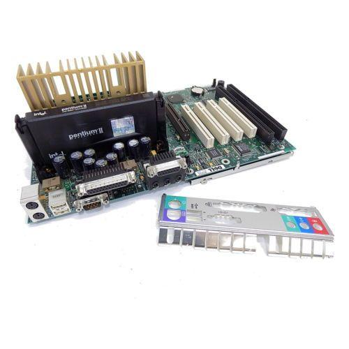 Pentium II motherboard 2-ISA 4-PCI 1-AGP with 350mhzCPU 512mb ram