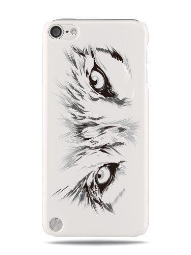 GRÜV Case - Trés Chic! - Design 'Animal Loup Visage Yeux' - Impression de Haute Qualité sur Coque Rigide Blanc - pour Apple iPod Touch 5 5G , http://www.amazon.fr/dp/B00J79P5S2/ref=cm_sw_r_pi_dp_ejIAub06MPXJV