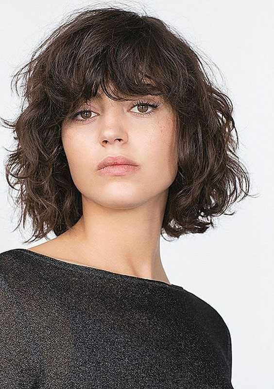 Https Www Short Hairstyles Co Wp Content Uploads 2017 11 5 Short Curly Haircuts Bangs 2017 2017114125 Jpg Coupe De Cheveux Coiffure Bouclee Coiffure