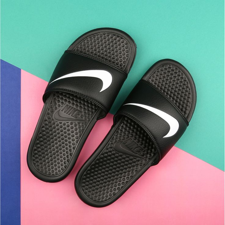 Sun's out, toes out. The Nike Benassi slides are back. #slides #sun #spring #summer #nike #swoosh http://www.shoeconnection.co.nz/products/NIYURS5X1A0