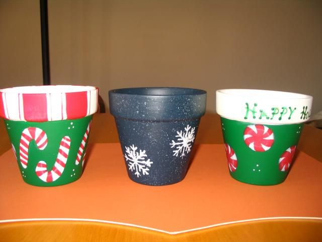 clay pot christmas candy dish | clay pots candy dishes