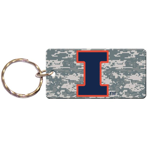 Illinois Fighting Illini Digi Camo Acrylic Keychain - $4.99