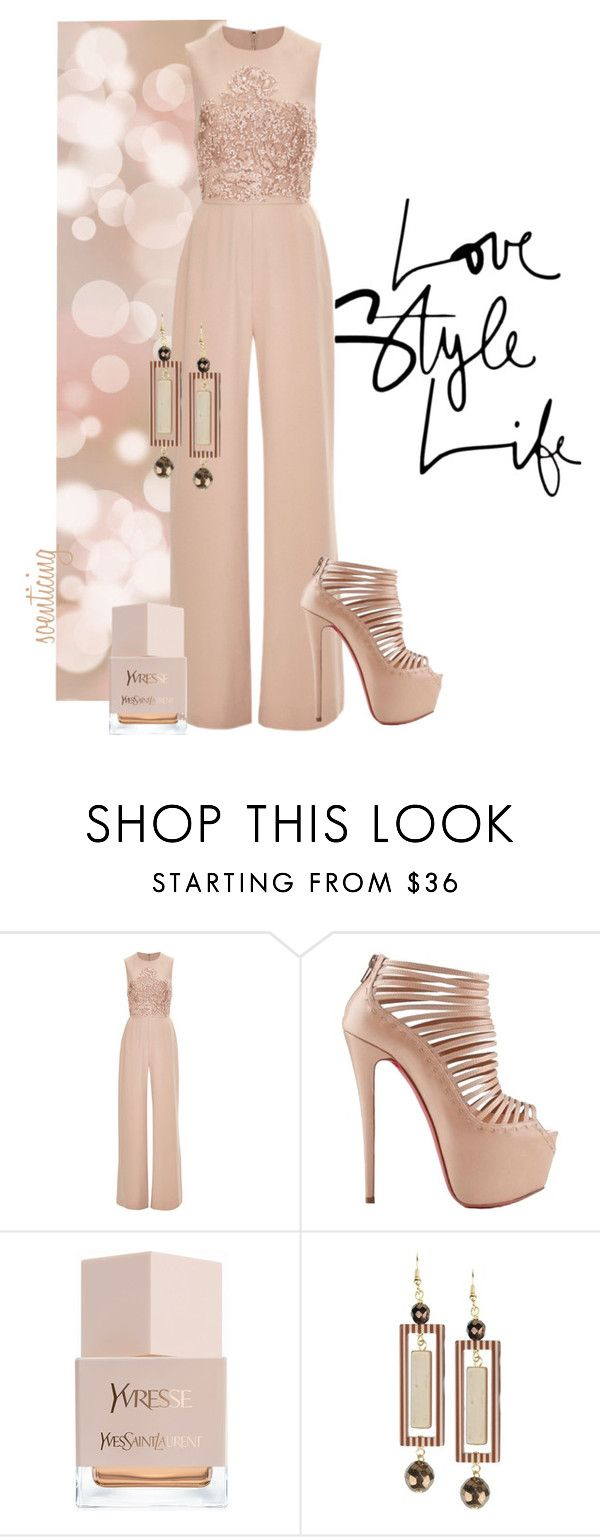 """""""Untitled #276"""" by soenticing ❤ liked on Polyvore featuring Elie Saab, Christian Louboutin, Yves Saint Laurent and Jozica"""