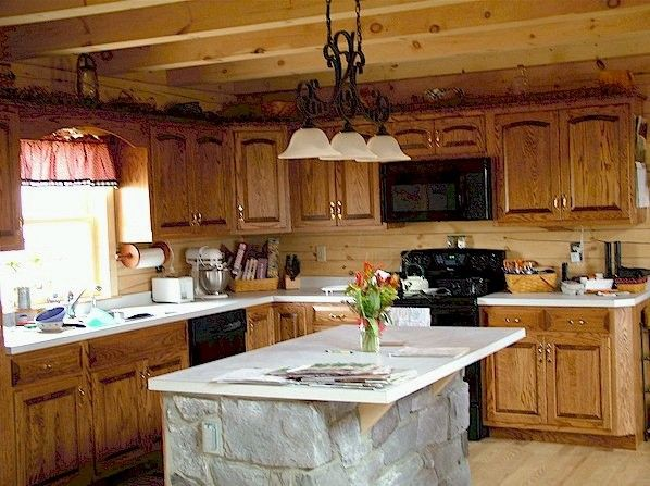 Log Home Photos Of Kitchens