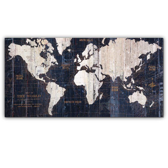 World Map Image In Hindi%0A  u    Old World Map Blue u     Graphic Art on Wrapped Canvas   u
