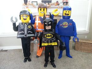 Everything is Awesome!: My boys love lego blocks and the Lego Movie so why not make them some costumes from characters in the movie. We made Emmet, Benny, Bad Cop/Good Cop and Batman! (Photo: Cathy) (Submitted using iWitness)