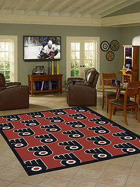 anglo oriental philadelphia flyers 78 x 109 repeat rug shop
