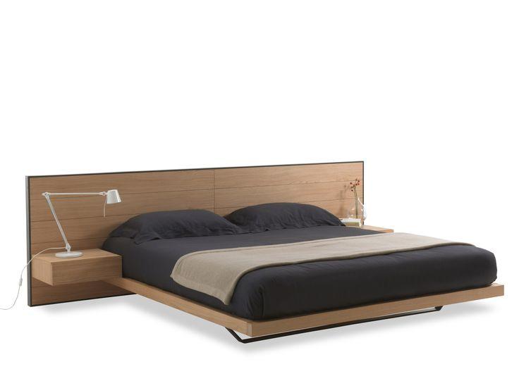 Multi-layer wood double bed RIALTO BED by Riva 1920 design Giuliano Cappelletti
