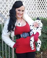 DIY matching costumes for babies and parents - Dalmatian Puppy & Cruella de Vil Costume