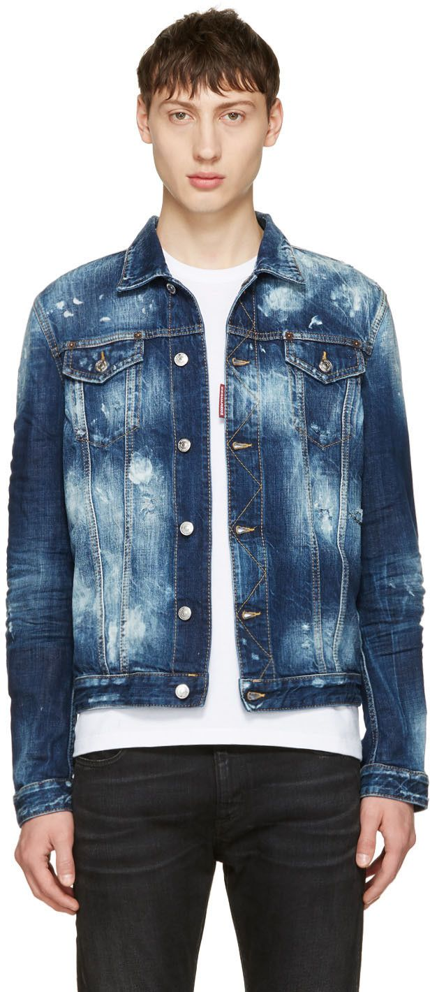 DSQUARED2 Blue Denim Jacket. #dsquared2 #cloth #jacket