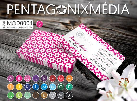 MOD0004 Cartes d'affaires / Cartes de visite par PentagonixMedia