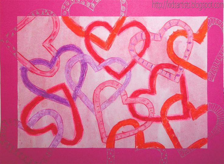 Overlapping hearts : Kids Artists: februari 2011