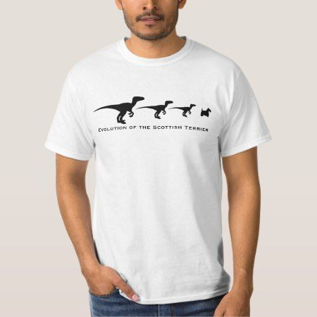 Evolution of the Scottish Terrier T-Shirt - tap to personalize and get yours