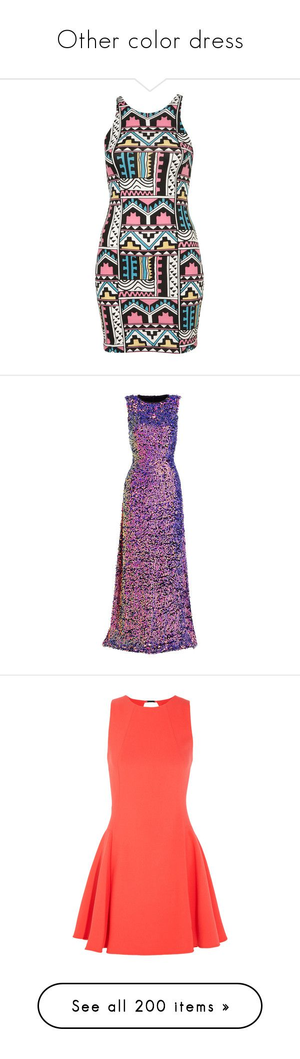 """""""Other color dress"""" by casey-avery ❤ liked on Polyvore featuring dresses, vestidos, multi, aztec pattern dress, aztec bodycon dress, bodycon dress, aztec print bodycon dress, aztec print dress, gowns and beaded evening gowns"""