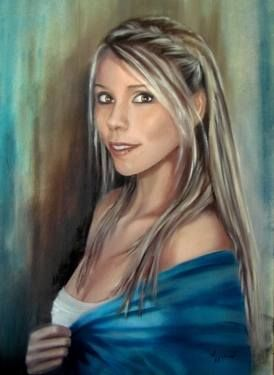 "Saatchi Art Artist ΑγγελικΗ  Aggeliki; Painting, ""Alexia"" #art Oilon canvas  Size: 80 H x 60 W x 2 cm - NOT AVAILABLE"