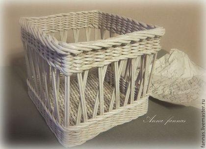 "Корзиночка ""Винтажная"" - белый,подарок,корзиночка,винтаж,прованс,плетеная корзиночка"