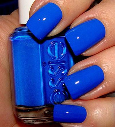 essie nail polish color. Kentucky blue!