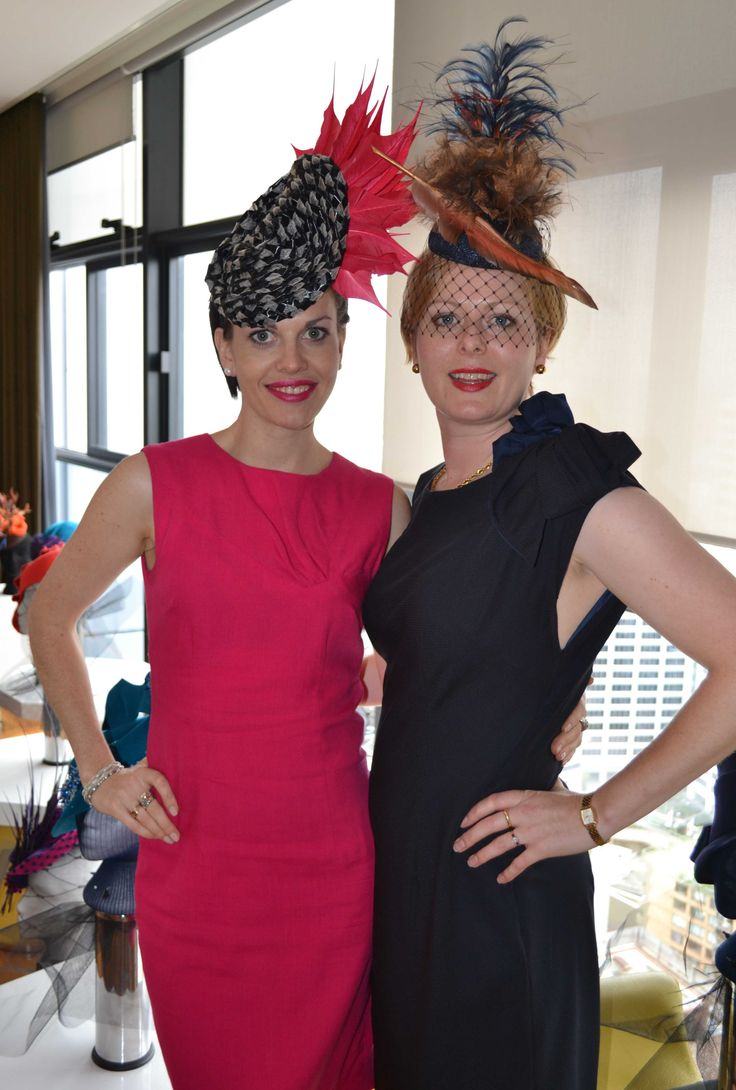 Isobel & Anna Martin wearing Izziana Millinery
