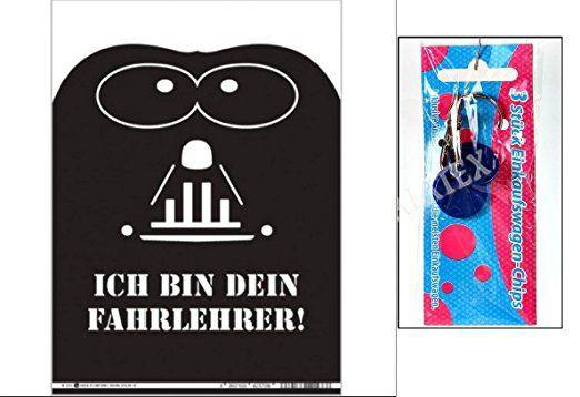 """""""Set"""" - Parkkarte Fahrlehrer & Einkaufswagenchip 3er Set ~"""