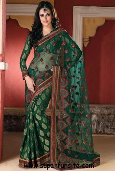 net saree blous design