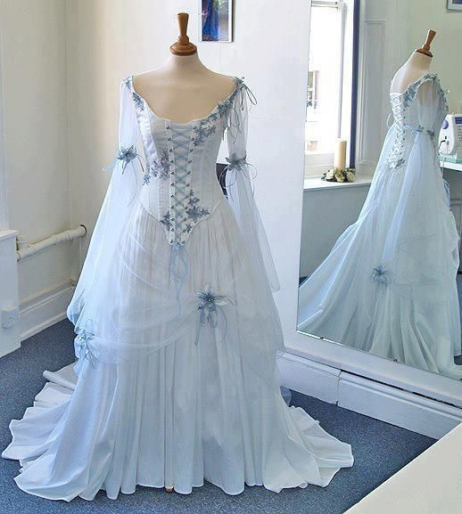 26 best wedding dresses images on pinterest sweet dress wedding cheap flower comb buy quality flowers stick directly from china flower child dress suppliers vintage celtic wedding dress white and pale blue colorful junglespirit Image collections